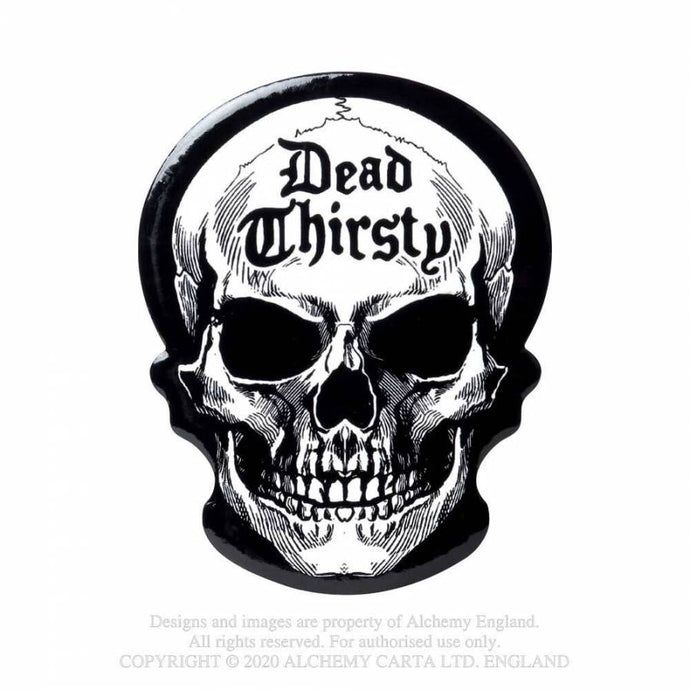 Alchemy Gothic Dead Thirsty Skull Coaster - Kate's Clothing