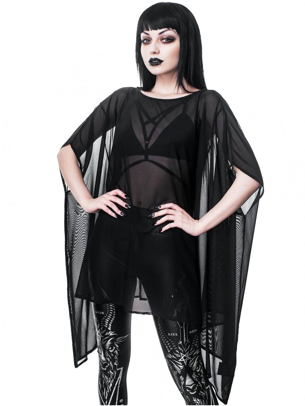 Killstar Dominia Mesh Tunic - Kate's Clothing