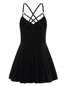Collectif Dorcas Velvet Skater Dress - Kate's Clothing