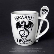 Load image into Gallery viewer, Alchemy Gothic Dragon Is Stirring: Mug and Spoon Set - Kate's Clothing
