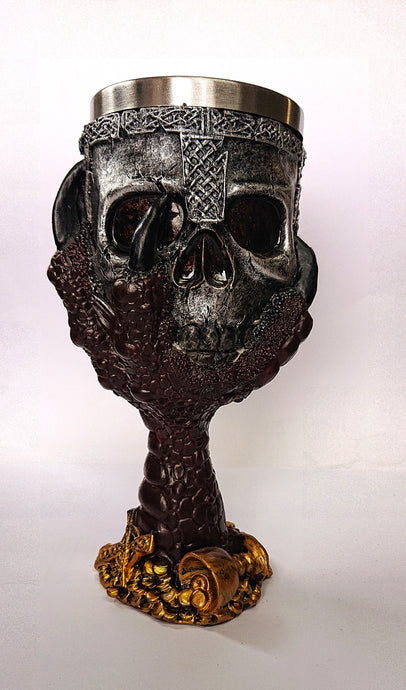 Gothic Gifts Resin Skull Goblet - Dragon Claw