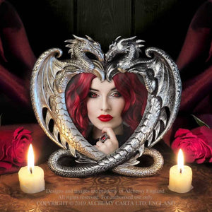Alchemy Gothic Dragon's Heart Photo Frame