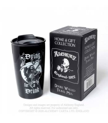 Alchemy Gothic Double Walled Dying For A Drink Travel Mug - Kate's Clothing