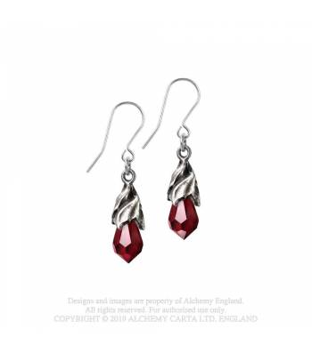 Alchemy Gothic Empyrean Tear Droppers - Red - Kate's Clothing