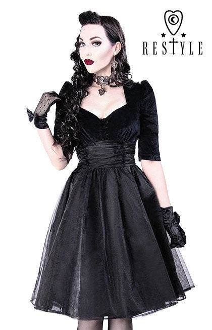 Restyle Velvet & Organza Party Dress
