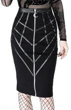 Load image into Gallery viewer, Restyle Plus Size Bonded To The Moon Pencil Skirt - Kate's Clothing