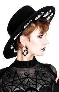 Restyle Moon Phases Wide Brim Hat - Kate's Clothing