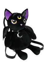 Load image into Gallery viewer, Restyle Violet Demonic Cat Backpack - Kate's Clothing
