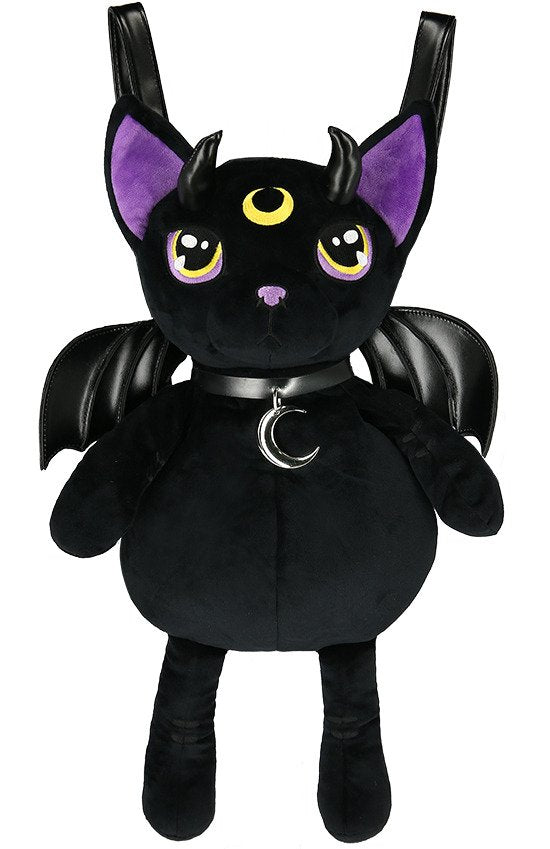 Restyle Violet Demonic Cat Backpack - Kate's Clothing