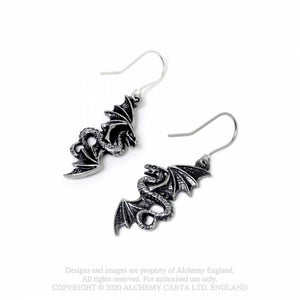 Alchemy Gothic Flight of Airus Earrings