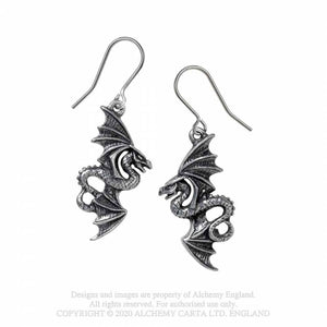 Alchemy Gothic Flight of Airus Earrings - Kate's Clothing