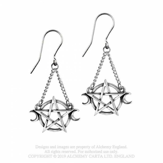 Alchemy Gothic Goddess Earrings - Kate's Clothing