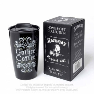 Alchemy Gothic Double Walled Gothee Coffee Travel Mug - Kate's Clothing