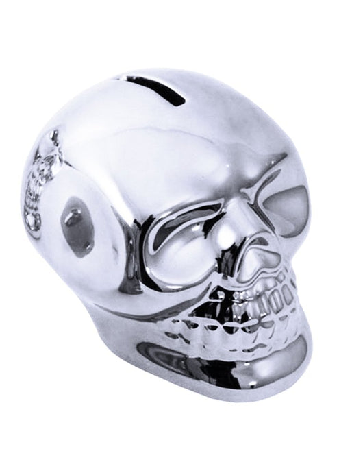 Gothic Gifts Metallic Skull Money Box - Silver