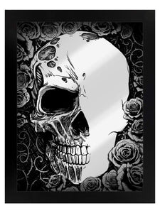 Framed Mirrored Tin Sign - Half Dead