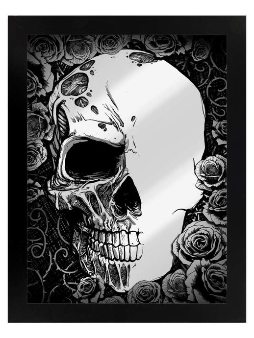 Framed Mirrored Tin Sign - Half Dead - Kate's Clothing