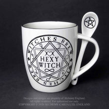 Load image into Gallery viewer, Alchemy Gothic Hexy Witch Mug and Spoon Set