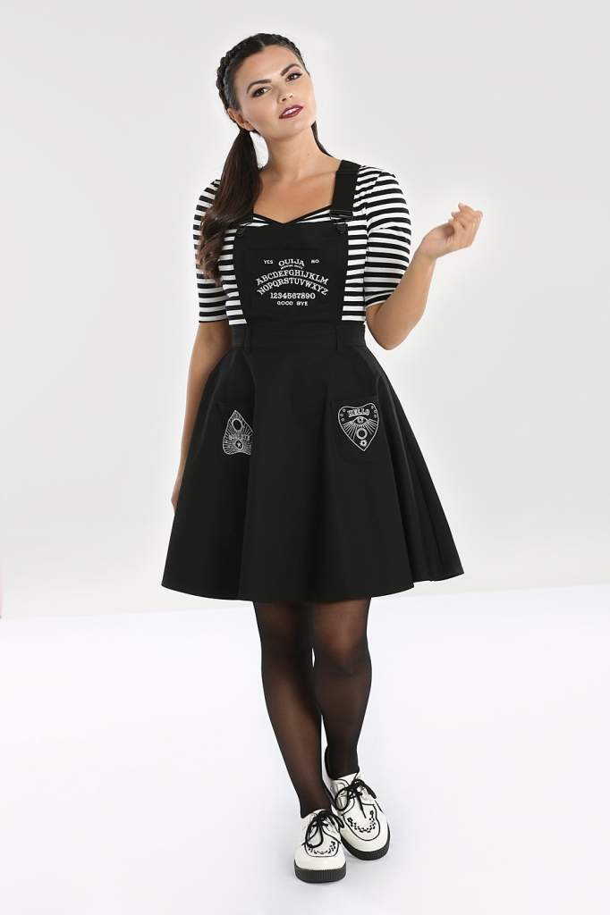 Hell Bunny Plus Size Samara Pinafore Dress - Kate's Clothing