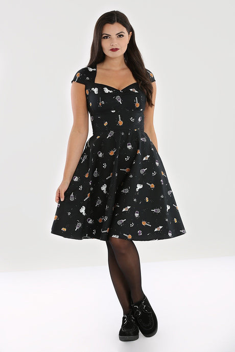 Hell Bunny Trick Or Treat Swing Dress - Kate's Clothing