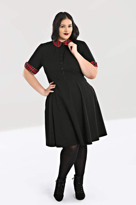 Hell Bunny Plus Size Tiddlywinks Mid Dress - Kate's Clothing