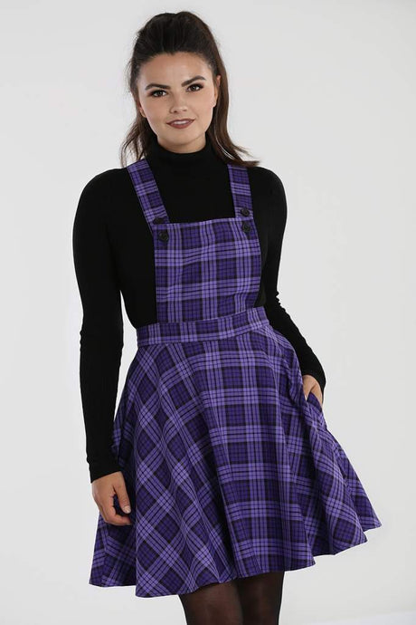 Hell Bunny Plus Size Kennedy Pinafore Dress - Kate's Clothing