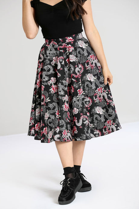Hell Bunny Mushu 50's Skirt - Kate's Clothing
