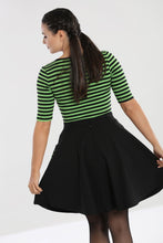 Load image into Gallery viewer, Hell Bunny Miss Muffet Mini Skirt - Black & Green - Kate's Clothing