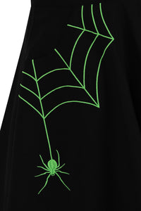 Hell Bunny Miss Muffet Mini Skirt - Black & Green - Kate's Clothing