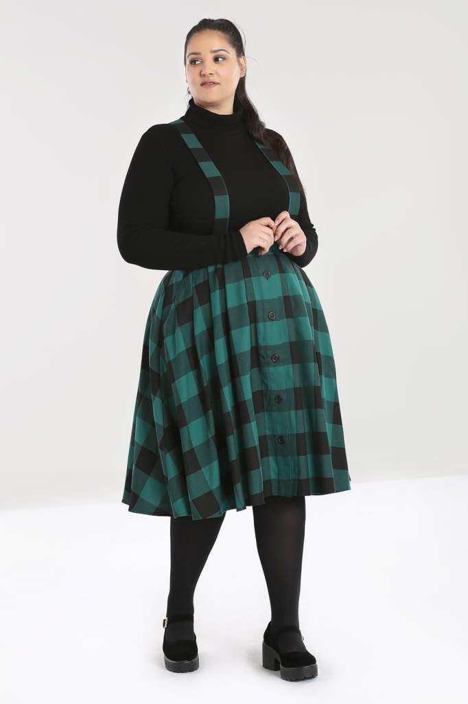 Hell Bunny Plus Size Teen Spirit Pinafore Skirt - Kate's Clothing