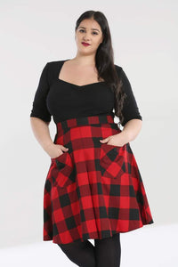 Hell Bunny Plus Size Teen Spirit Mid Skirt - Kate's Clothing
