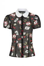 Load image into Gallery viewer, Hell Bunny Plus Size Viva Las Vegas Blouse - Kate's Clothing