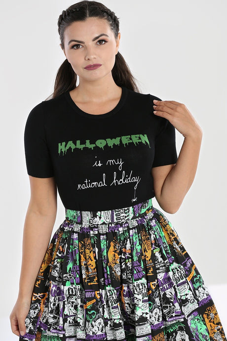 Hell Bunny Halloween Forever Top - Kate's Clothing