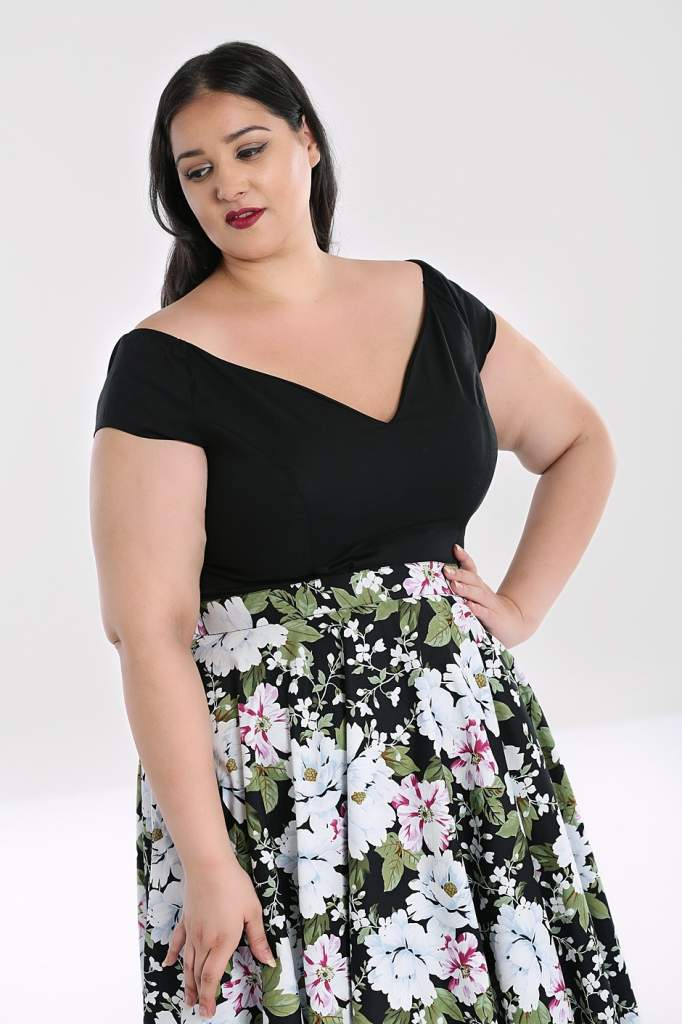 Hell Bunny Plus Size Petunia Top - Black - Kate's Clothing