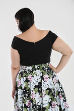 Load image into Gallery viewer, Hell Bunny Plus Size Petunia Top - Black - Kate's Clothing