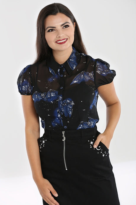 Hell Bunny Plus Size Twilight Blouse - Kate's Clothing