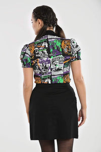Hell Bunny Be Afraid Blouse - Kate's Clothing