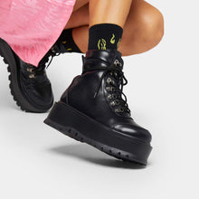 Load image into Gallery viewer, Koi Hydra All Black Matrix Platform Boots - Kate's Clothing