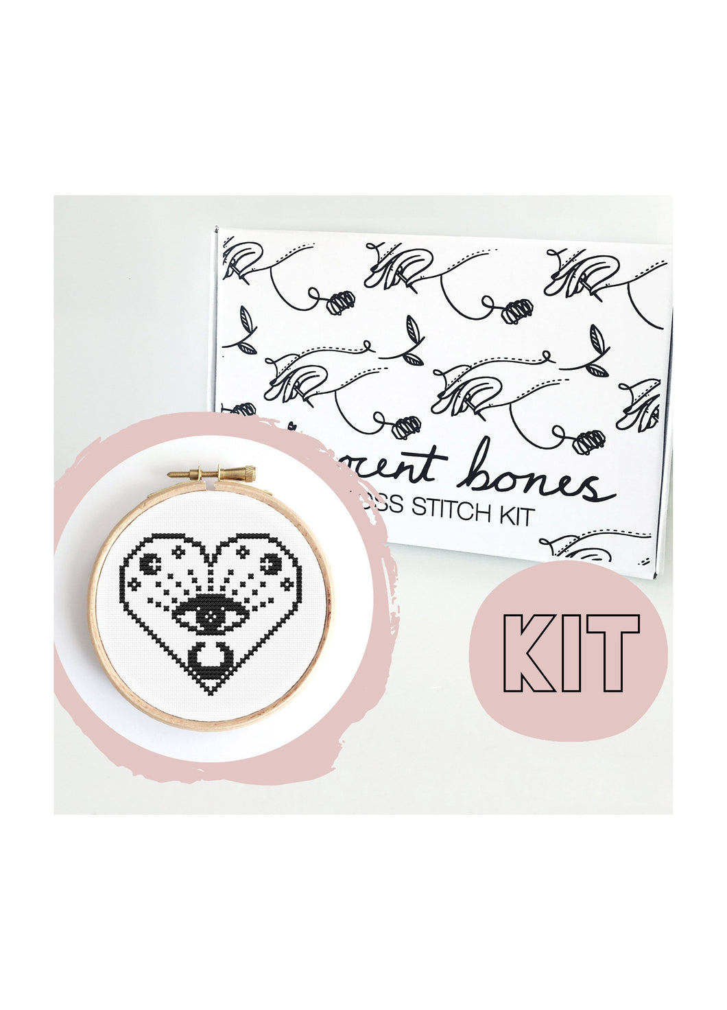 Innocent Bones All Seeing Eye Cross Stitch Kit - Kate's Clothing