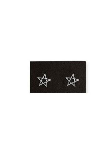 Et Nox Sterling Silver Pentagram Earrings - Kate's Clothing