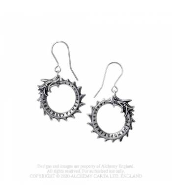 Alchemy Gothic Jormungand Earrings - Kate's Clothing