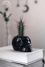 Load image into Gallery viewer, Killstar Black Skull Planter - Kate's Clothing