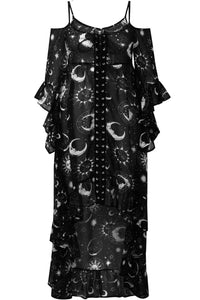 Killstar Plus Size Astral Light Maxi Dress - Kate's Clothing