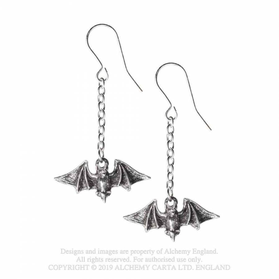 Alchemy Gothic Kiss The Night Earrings - Kate's Clothing