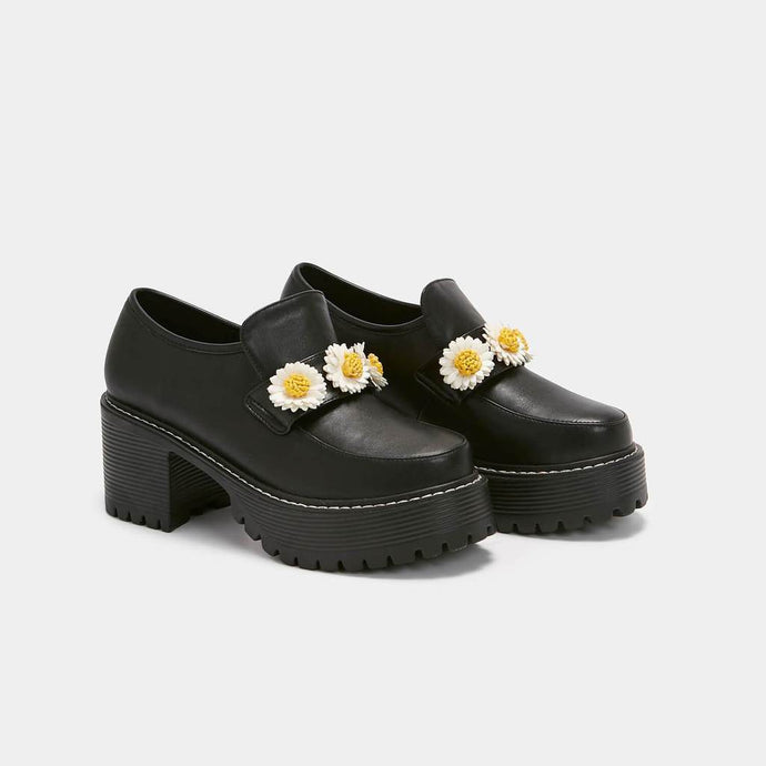 Koi Primrose Flower Chunky Shoe - Kate's Clothing