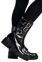 Load image into Gallery viewer, Killstar Bones Combat Boots - Kate's Clothing