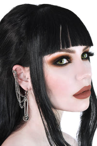 Killstar Noir Earrings - Silver - Kate's Clothing