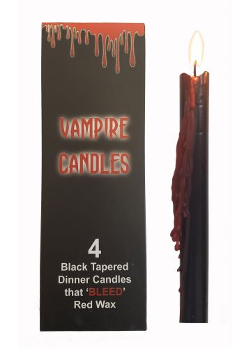 Gothic Gifts 4 Tapered Vampire Candles