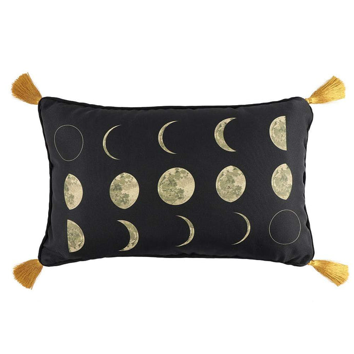 Gothic Gifts Phases Of The Moon Cushion With Tassels - Kate's Clothing
