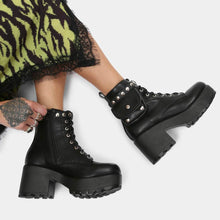 Load image into Gallery viewer, Koi Aldor Chunky Black Pocket Boot - Kate's Clothing