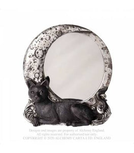 Alchemy Gothic Night Cat Mirror - Kate's Clothing